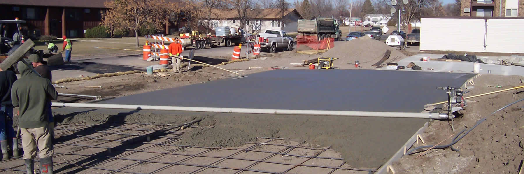 Purchase a Lura Screed to be able to accomplish wide concrete pouring.